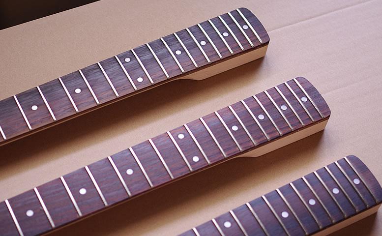 ギターネック - リバースラージヘッド